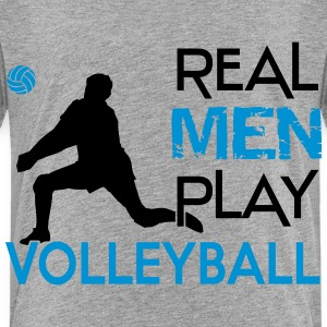 Real Men play Volleyball Skjorter - Premium T-skjorte for barn
