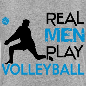 Real Men play Volleyball Shirts - Teenage Premium T-Shirt
