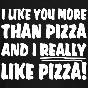 I like you more than pizza and i really like pizza Magliette - Maglietta Contrast da uomo
