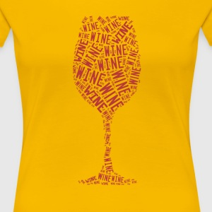 Single Wine Glass - Women's Premium T-Shirt