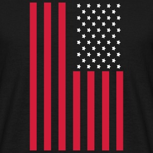 Stars and Stripes American Flag T-Shirts - Men's T-Shirt
