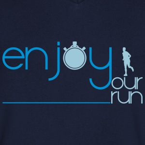 ENJOY YOUR RUN Tee shirts - T-shirt Homme col V