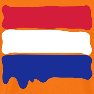 Dutch flag runny paint T-shirts - Mannen Premium T-shirt