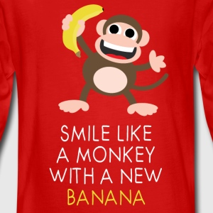 Monkey with banana Langarmshirts - Teenager Premium Langarmshirt