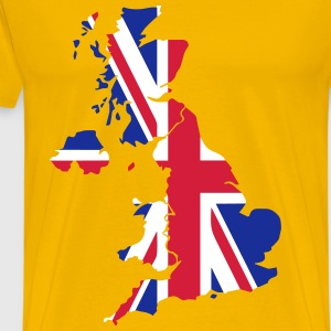 British flag UK geo T-Shirts - Men's Premium T-Shirt