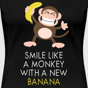 Monkey with banana T-Shirts - Frauen Premium T-Shirt