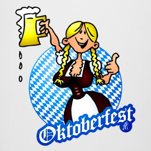 Oktoberfest - girl in a dirndl Bottles & Mugs - Beer Mug