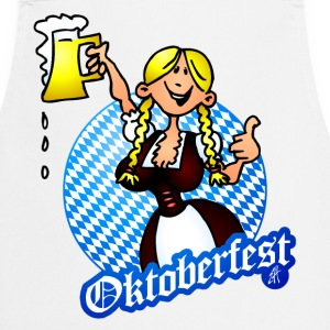 Oktoberfest - girl in a dirndl  Aprons - Cooking Apron