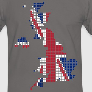UK pixelated flag digital Camisetas - Camiseta contraste hombre