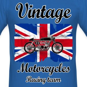 uk motorcycles racing T-Shirts - Men's Slim Fit T-Shirt