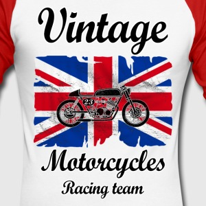 uk motorcycles racing Long sleeve shirts - Men's Long Sleeve Baseball T-Shirt