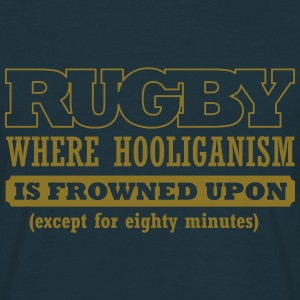 BRL Rugby  Slogan T-Shirt Gold on Blue - Men's T-Shirt