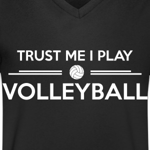 Trust me I play volleyball T-shirts - Mannen T-shirt met V-hals