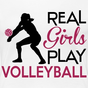 Real girls play Volleyball Magliette - Maglietta Premium da donna