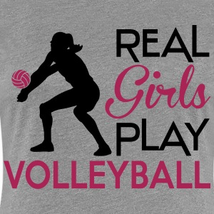Real girls play Volleyball T-Shirts - Frauen Premium T-Shirt