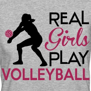 Real girls play Volleyball Camisetas - Camiseta ecológica mujer
