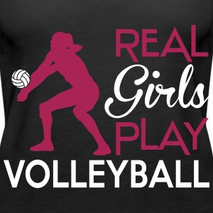 Real girls play Volleyball Tops - Frauen Premium Tank Top