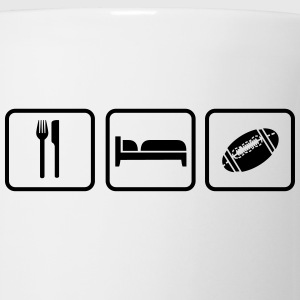 Eat Sleep American Football Flaschen & Tassen - Tasse