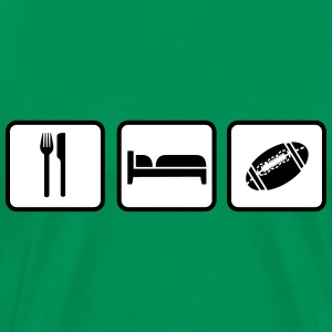 Eat Sleep American Football T-shirts - Premium-T-shirt herr