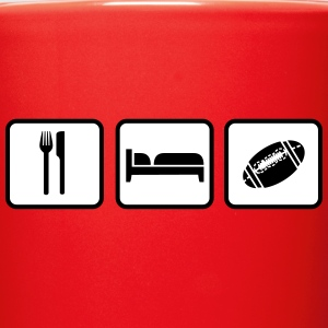 Eat Sleep American Football Flaschen & Tassen - Tasse einfarbig