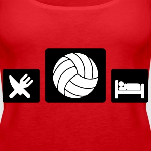 Eat Volleyball Sleep Tops - Frauen Premium Tank Top