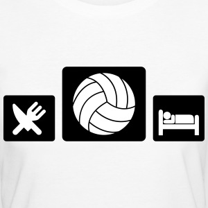 Eat Volleyball Sleep T-Shirts - Frauen Bio-T-Shirt