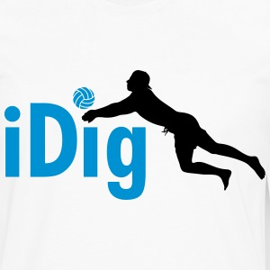 Volleyball: iDig Manches longues - T-shirt manches longues Premium Homme