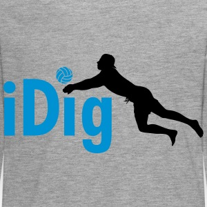 Volleyball: iDig Manches longues - T-shirt manches longues Premium Ado