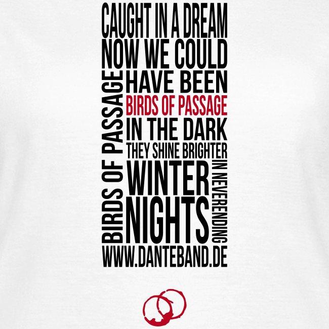 DANTE T-Shirt woman white - birds of passage