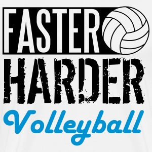 Faster, harder, Volleyball T-Shirts - Men's Premium T-Shirt