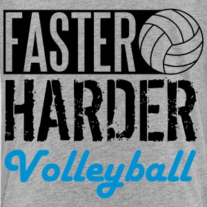 Faster, harder, Volleyball T-Shirts - Teenager Premium T-Shirt