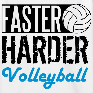 Faster, harder, Volleyball T-shirts - T-shirt tonåring