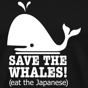 save the whales T-Shirts - Men's Premium T-Shirt