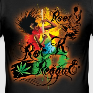 roots rock reggae Tee shirts - Tee shirt près du corps Homme