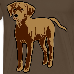 Dog Puppy T-skjorter - Premium T-skjorte for menn