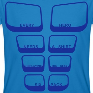 every hero needs a sixpack text 3 Color Vector T-Shirts - Men's Organic T-shirt