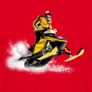 snowmobile racing Tee shirts - T-shirt Homme