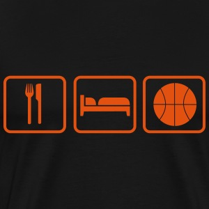 Eat Sleep Basketball T-shirts - Premium-T-shirt herr