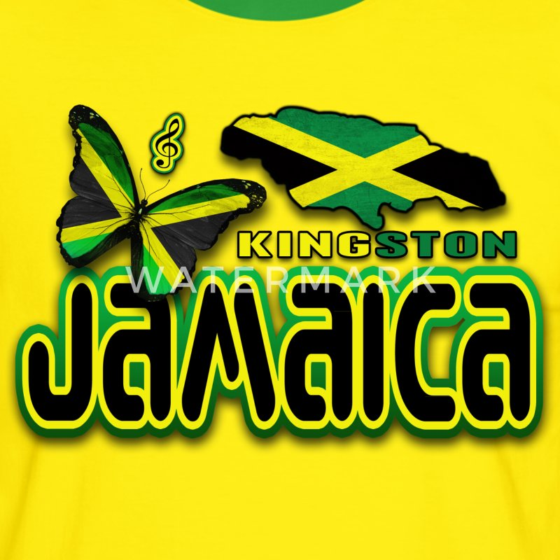 kingston jamaica Tee shirts - T-shirt contraste Homme
