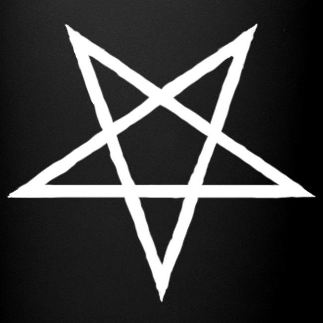 Tasse mit weißem Pentagram