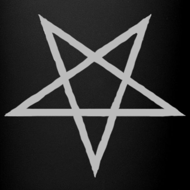 Tasse mit grauen Pentagram