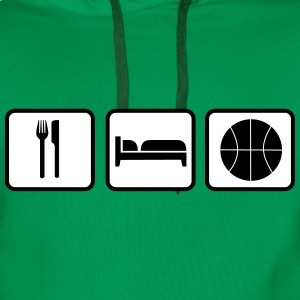 Eat Sleep Basketball Sweat-shirts - Sweat-shirt à capuche Premium pour hommes