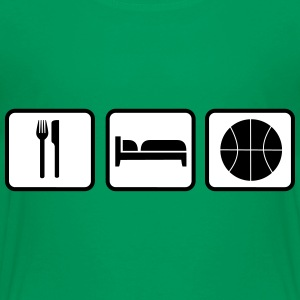 Eat Sleep Basketball Camisetas - Camiseta premium niño