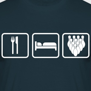Eat Sleep Bowling T-shirts - Mannen T-shirt