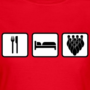 Eat Sleep Bowling T-shirts - Vrouwen T-shirt
