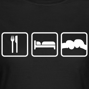 Eat Sleep Boxen T-Shirts - Frauen T-Shirt