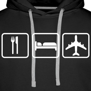 Eat Sleep Fly Hoodies & Sweatshirts - Men's Premium Hoodie