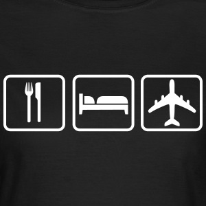 Eat Sleep Fly Tee shirts - T-shirt Femme