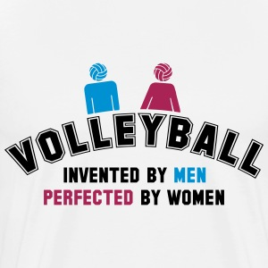 Volleyball: invented by men, perfected by women T-Shirts - Männer Premium T-Shirt