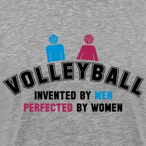 Volleyball: invented by men, perfected by women Camisetas - Camiseta premium hombre